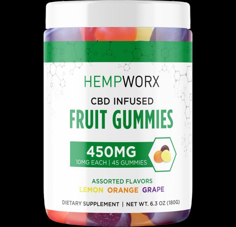 Hempworx CBD Infused Fruit Gummies