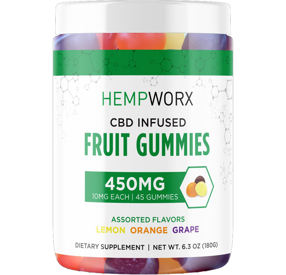 Hempworx CBD Infused Fruit Gummies